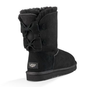 🆕UGG Meilani Black Bow Back Boots